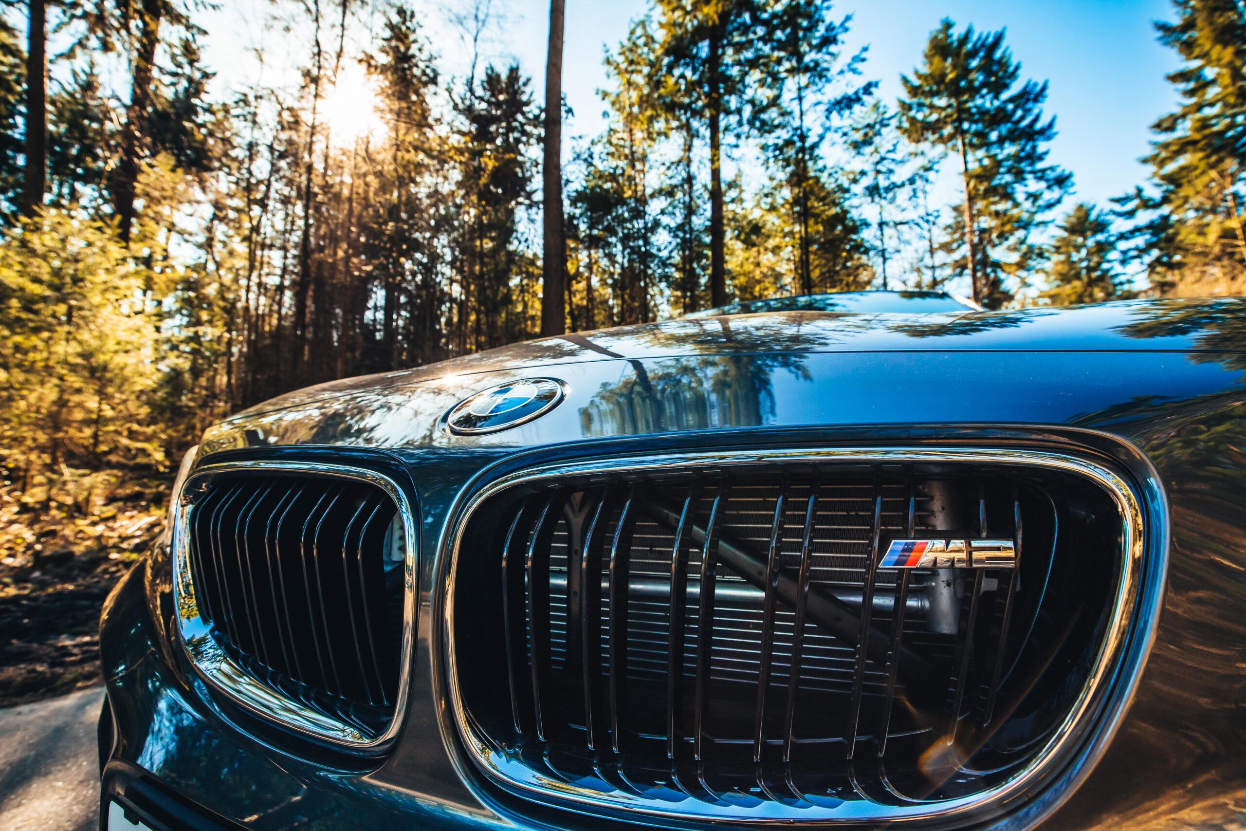 Fronten på en BMW M2